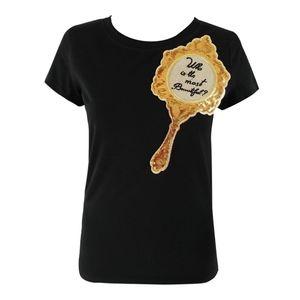 Vintage Black top mirror sequin t-shirt